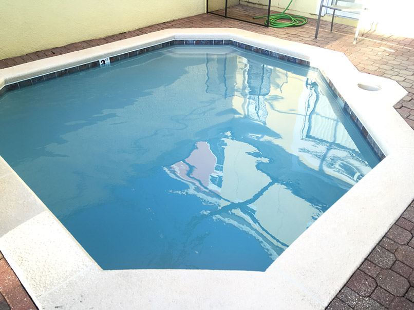 Green pool after image
